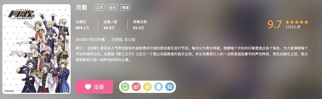 偶像动漫「月歌。2」公布两首主题曲的PV
