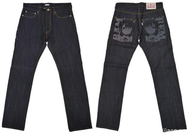 日本动漫「Re:零」周边拉姆雷姆限定牛仔裤发售