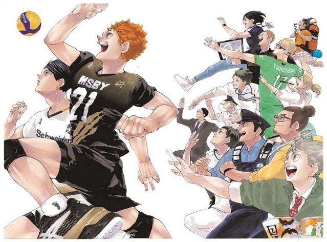 「排球少年」最终卷封面 vs 第1卷封面