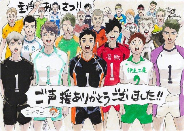 「排球少年」联动特典明信片绘图公开