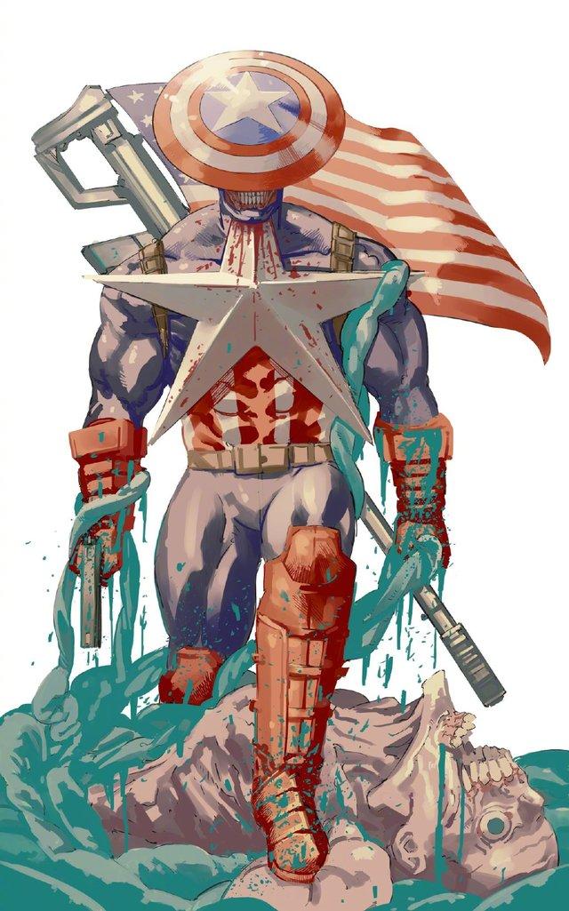 「电锯人」原作公开美国队长绘图