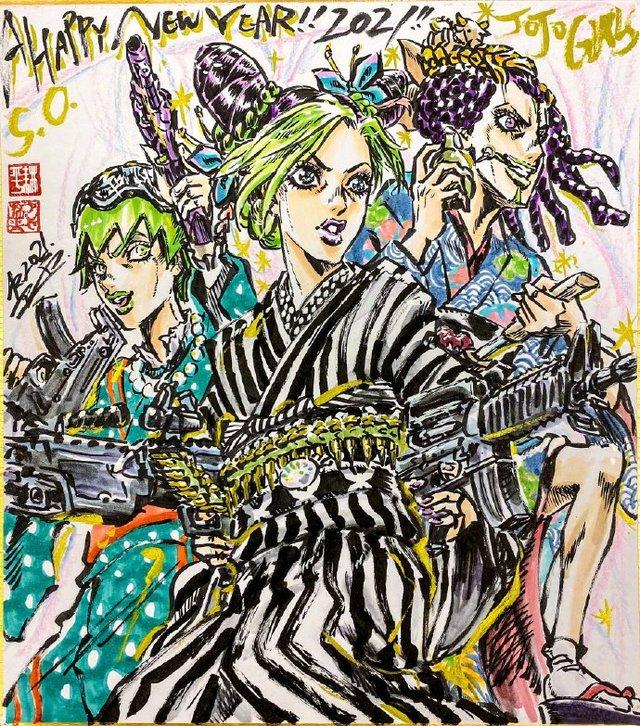 「JOJO的奇妙冒险」作画监督芦谷耕平公开新年贺图