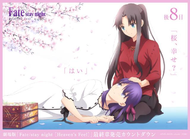 「Fate/stay night [HF]」最终章BD发售倒数8日应援绘公开