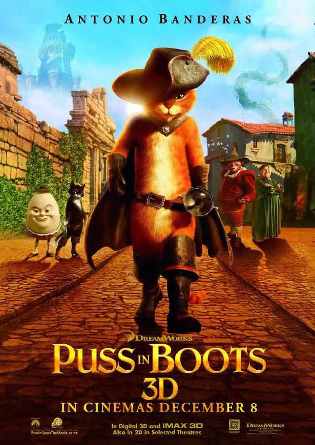 梦工场动画「穿靴子的猫:最后的愿望」宣布定档
