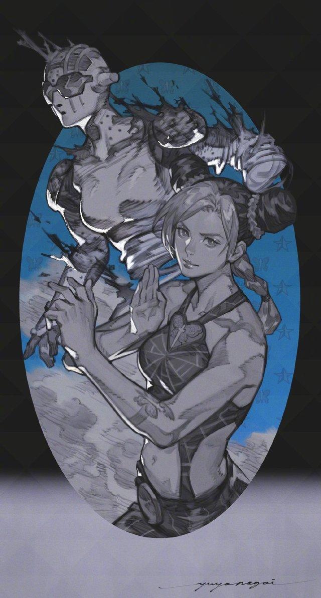 永井悠也绘制「JOJO的奇妙冒险 石之海」空条徐伦公开