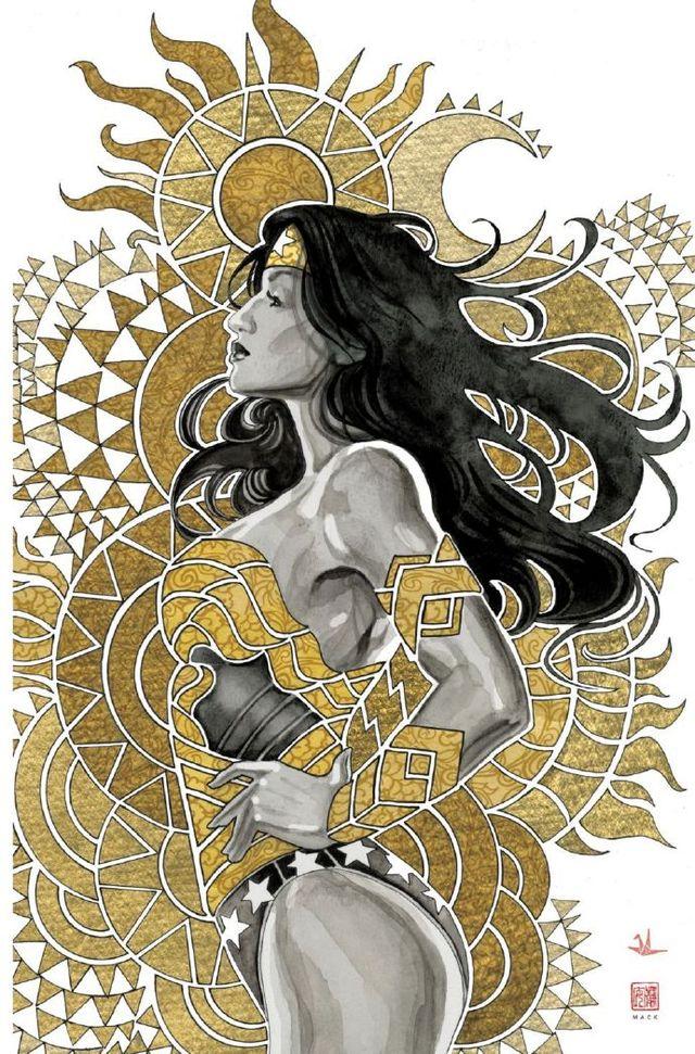 「神奇女侠:黑与金」第二期封面公开