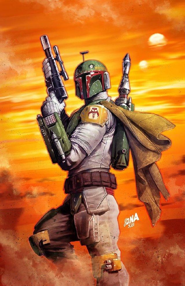 画师绘制「星球大战:赏金猎人战争阿尔法」单刊变体封面图公开