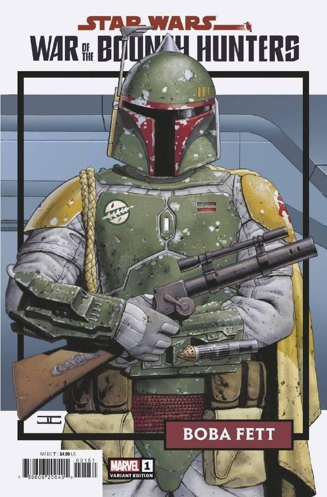 「星球大战:赏金猎人战争」官方公开第一期迷你单刊全部变体封面