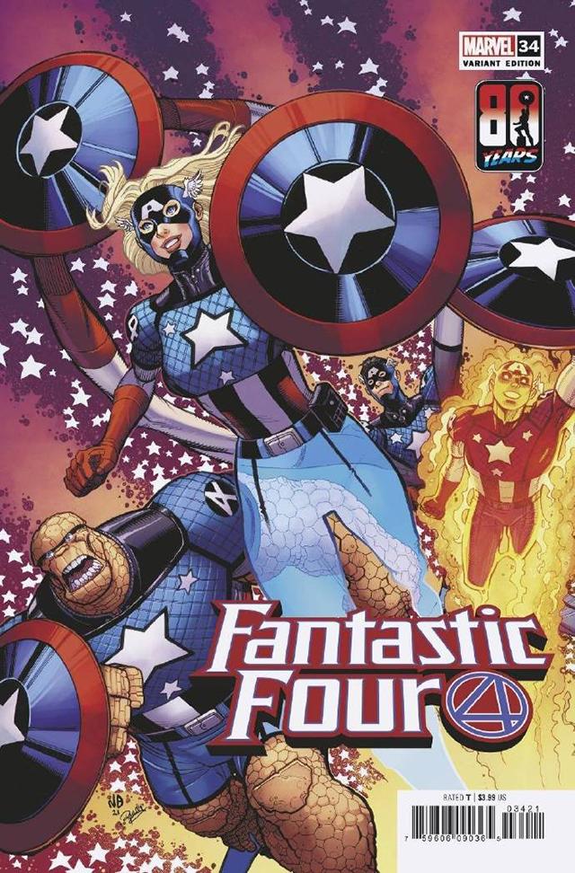 漫威漫画公开「美国队长」诞辰80周年纪念变体封面