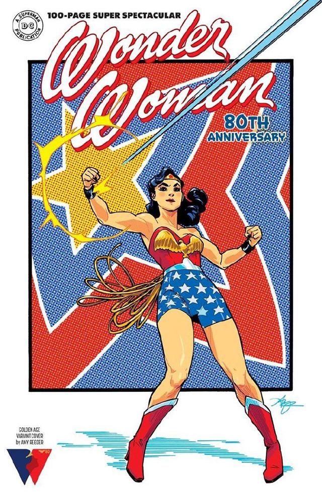 DC漫画公开「神奇女侠」80周年纪念特刊封面