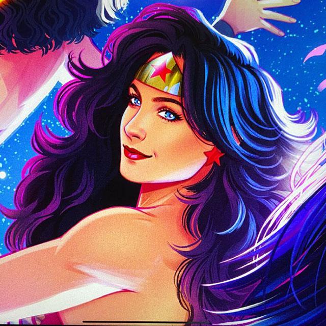 知名画师绘制「神奇女侠」人物肖像公开